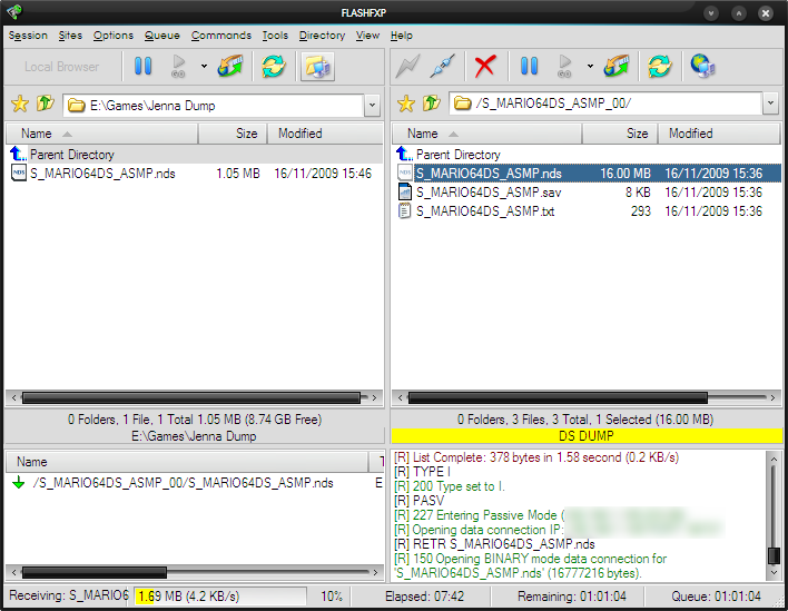 DS-Scene - View Topic: NDS Backup Tool FTPd 010